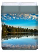 Relaxing On The Lake Duvet Cover by Robert Bales