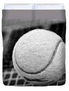 Remember The White Tennis Ball Duvet Cover by Kaye Menner