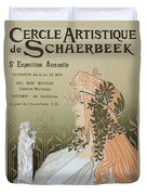 Reproduction Of A Poster Advertising 'schaerbeek's Artistic Circle Duvet Cover by Livemont