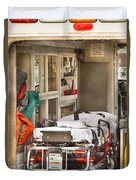 Rescue - Inside The Ambulance Duvet Cover by Mike Savad