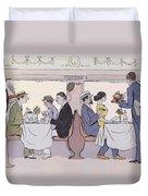 Restaurant Car In The Paris To Nice Train Duvet Cover by Sem