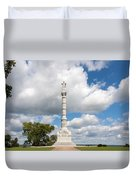 Revolutionary War Monument At Yorktown Duvet Cover by John Bailey