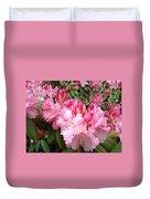 Rhododendron Garden Art Prints Pink Rhodie Flowers Duvet Cover by Baslee Troutman