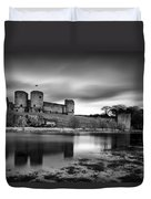 Rhuddlan Castle Duvet Cover by Dave Bowman