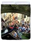 Rhythm Of Venice Duvet Cover by Jennie Breeze