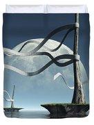 Ribbon Island Duvet Cover by Cynthia Decker