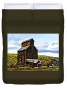 Rice Elevator 1916 Duvet Cover by Steve McKinzie