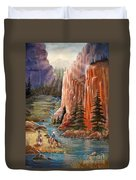 Rim Canyon Ride Duvet Cover by Marilyn Smith