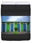 Rimini Beach Panorama Duvet Cover by Andy Prendy