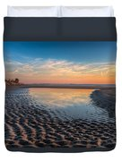 Ripples In The Sand Duvet Cover by Debra and Dave Vanderlaan