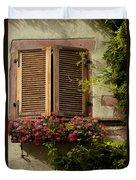 Riquewihr Window Duvet Cover by Brian Jannsen