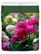 Rittenhouse Square Roses Duvet Cover by Rona Black