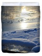 River Ice Duvet Cover by Hanne Lore Koehler