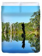 River Panorama And Reflections Duvet Cover by Kaye Menner