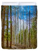 River Run Trail At Arrowleaf Duvet Cover by Omaste Witkowski
