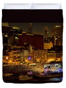 Riverfront Evening Concert Duvet Cover by Diana Powell