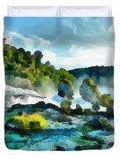 Riverscape Duvet Cover by Ayse Deniz