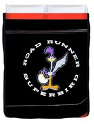 Road Runner Superbird Emblem Duvet Cover by Jill Reger