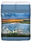Road To Lieutenant Island Duvet Cover by Bill Wakeley