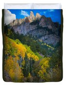 Road To Silver Mountain Duvet Cover by Inge Johnsson
