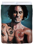 Robert De Niro In Cape Fear Duvet Cover by Paul Meijering