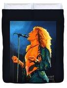 Robert Plant Duvet Cover by Paul Meijering