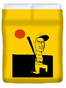 Roberto Clemente Pittsburgh Pirates Duvet Cover by Jay Perkins