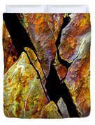 Rock Art 17 Duvet Cover by Bill Caldwell -        ABeautifulSky Photography