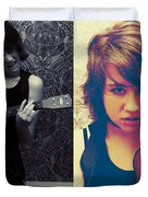 Rockalele Duvet Cover by Lisa Knechtel