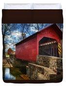 Roddy Road Covered Bridge Duvet Cover by Joan Carroll
