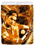 Roger Federer Clay Duvet Cover by RochVanh