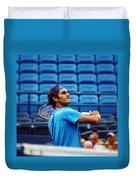 Roger Federer  Duvet Cover by Nishanth Gopinathan