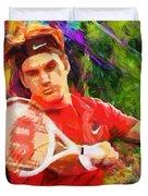 Roger Federer Duvet Cover by RochVanh