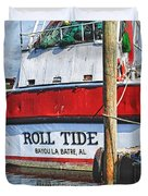 Roll Tide Stern Duvet Cover by Michael Thomas