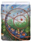 Roller Coaster Duvet Cover by Linda Mears