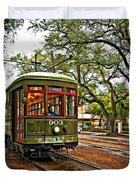Rollin' Thru New Orleans Duvet Cover by Steve Harrington