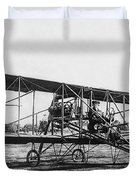 Romance Of Flight C. 1905 Duvet Cover by Daniel Hagerman