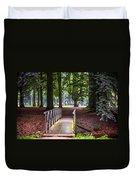 Romantic Bridge To Shadow Place. De Haar Castle Duvet Cover by Jenny Rainbow