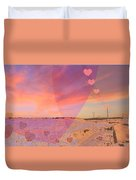 Romantic Sunset Duvet Cover by Augusta Stylianou