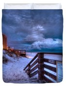 Romar Beach Clouds Duvet Cover by Michael Thomas