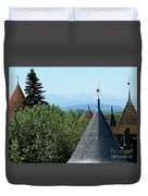Rooftops Of Carcassonne Duvet Cover by France  Art