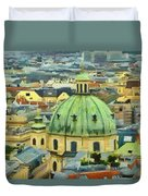 Rooftops Of Vienna Duvet Cover by Jeff Kolker