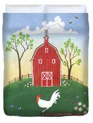 Rooster Americana Duvet Cover by Linda Mears