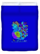 Rooster Blues Duvet Cover by Eloise Schneider