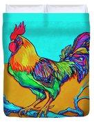 Rooster Perch Duvet Cover by Derrick Higgins