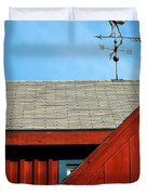 Rooster Weathervane Duvet Cover by Sabrina L Ryan