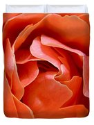 Rose Abstract Duvet Cover by Rona Black