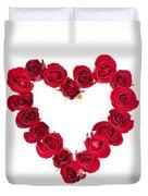 Rose Heart Duvet Cover by Elena Elisseeva