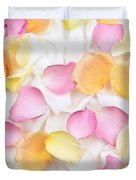 Rose petals background Duvet Cover by Elena Elisseeva