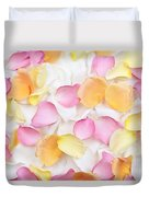Rose Petals Background Duvet Cover by Elena Elisseeva